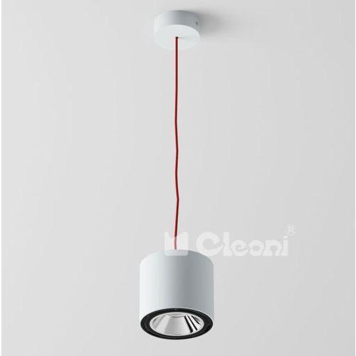 """Cleoni Lampa wisząca tito 1xgu10 z czarno-białym przewodem (""""żelazko""""), t113b7j1+"""