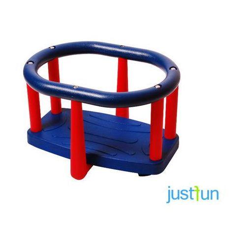 Huśtawka kubełkowa LUX - niebiesko-czerwony (huśtawka ogrodowa) od OTITU.PL