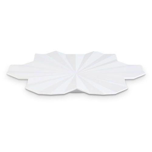 Aps Półmisek dekoracyjny z melaminy w kształcie liścia o średnicy 465 mm, biały   , lotus