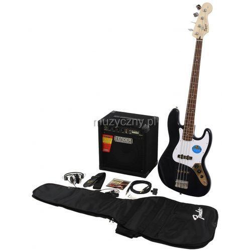 Fender Squier Affinity Jazz Bass black zestaw wzmacniacz Rumble 15