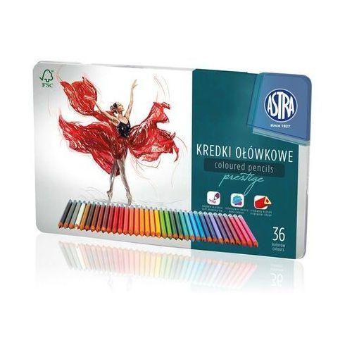 Kredki ołówkowe trójkątne prestige 36 kolorów marki Astra papiernicze