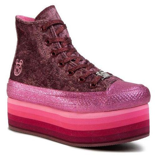 Trampki - ctas platform hi 563725c dark burgundy/pink marki Converse