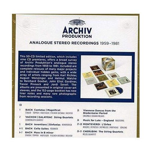 Universal music Archiv produktion analogue stereo recordings 1959-1981 (0028947955559)