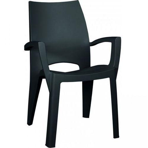 Krzesło z tworzywa sztucznego SPRING - kolor grafit