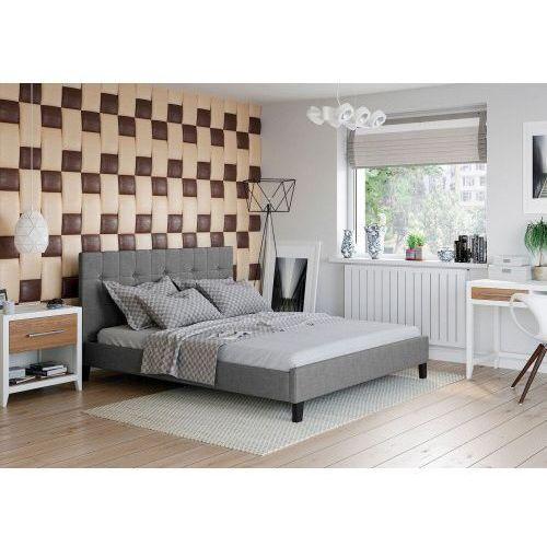 Big meble Łóżko 120x200 tapicerowane modena sawana szare