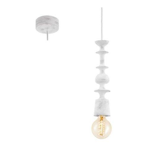 Lampa wisząca avoltri 49374 drewniana oprawa zwis geometryczne kształty biały marki Eglo