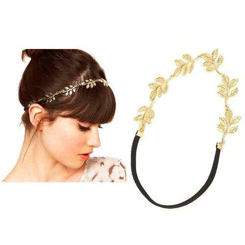 Cloe Opaska do włosów gold leaf - gold leaf