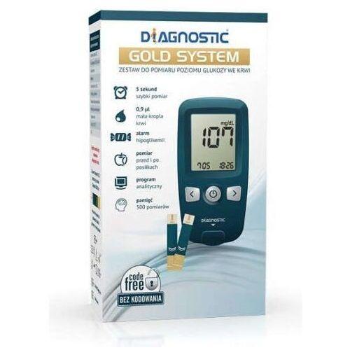 Glukometr Diagnostic Gold System zestaw do pomiaru glukozy we krwi x 1 sztuka