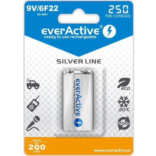 everActive 6F22/9V Ni-MH 250 mAh ready to use