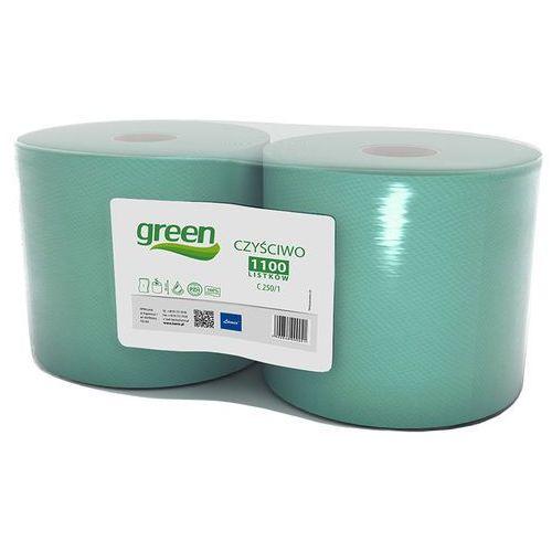 Czyściwo przemysłowe w roli Lamix Green 1 warstwa 250 m zielony makulatura, 9041