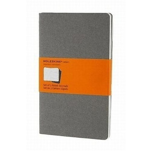 Moleskine Soft Grey Ruled Cahier Large Journal (3 Set), Moleskine