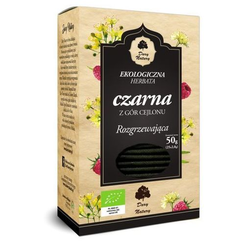 Dary natury - test Herbata czarna rozgrzewająca bio (25 x 2 g) - dary natury (5902581617378)