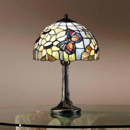 Perenz Atrakcyjna lampa stołowa viktoria w stylu tiffany