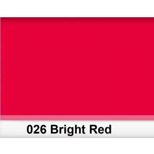 Lee 026 bright red filtr folia - arkusz 50 x 60 cm
