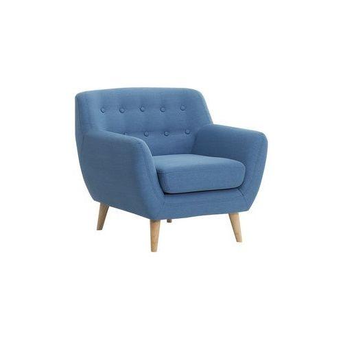Fotel niebieski - tapicerowany - pikowany - motala marki Beliani