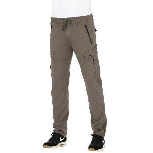 Spodnie - cargo tech pant flex grey brown (flex grey brown) rozmiar: m long marki Reell