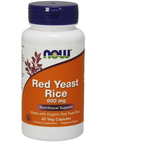 Kapsułki Czerwone drożdże ryżu Red Yeast Rice 600mg 60 kapsułek NOW FOODS