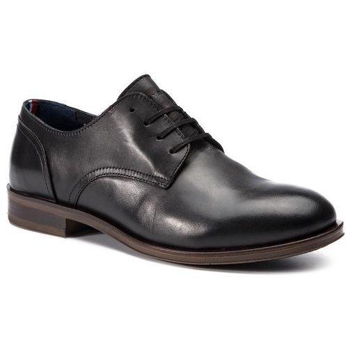 3c041caa03850 Półbuty TOMMY HILFIGER - Dress Casual Leather Shoe FM0FM02339 Black 990,  kolor czarny 649,00 zł Zgrabne półbuty firmy TOMMY HILFIGER.