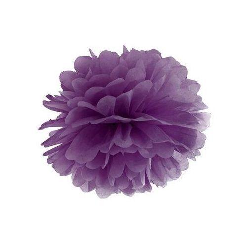 Dekoracja wisząca pompon kwiat - purpurowa - 35 cm - 1 szt. marki Ap