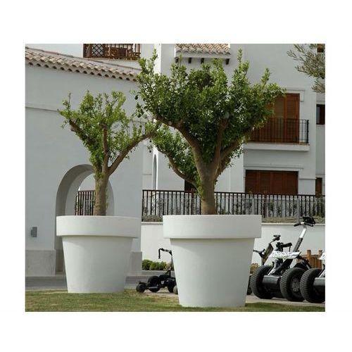 New garden donica magnolia 90 solar biała - led, sterowanie pilotem