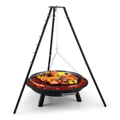 Blumfeldt Arco Trino grill odchylany obrotowy misa paleniskowa BBQ trójnóg