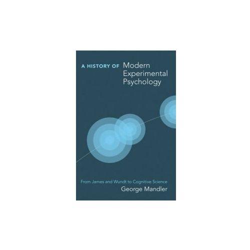 History of Modern Experimental Psychology (9780262516082)
