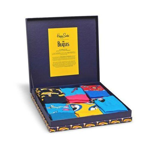 "Happy socks Skarpetki x the beatles gift box (6-par) ""50th anniversary"" xbea10-6000 - navy (7333102205473)"
