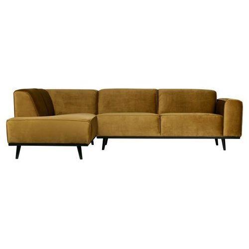 Be pure statement corner sofa left velvet honey żółty 378652-14