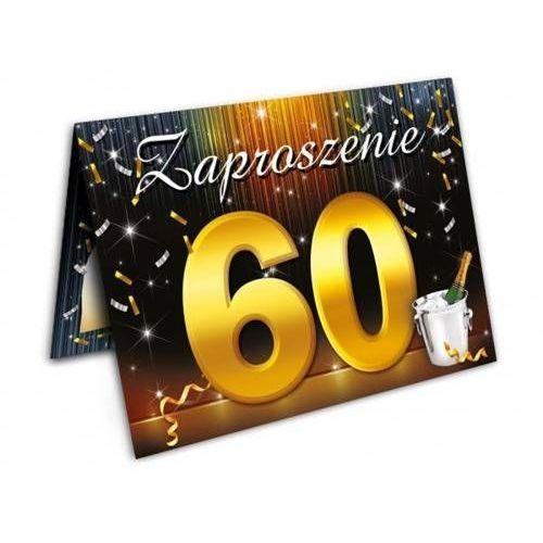Dp Zaproszenie urodzinowe - 60 - sześćdziesiątka - 1 szt.