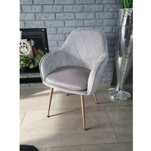 Big meble Krzesło tapicerowane welur szare big 029 dostawa 0zł