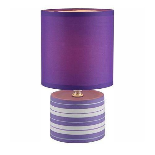 LAMPKA biurkowa LAURIE 21661 Globo abażurowa LAMPA stołowa IP20 okrągły paski fioletowy, 21661