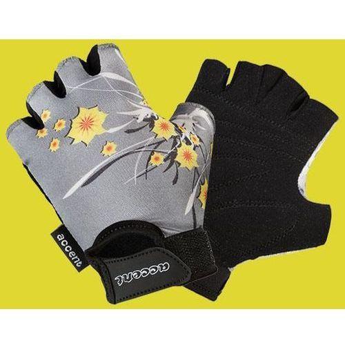 Accent Rękawiczki dziecięce daisy popielate wzór kwiaty xs (5906720825730)