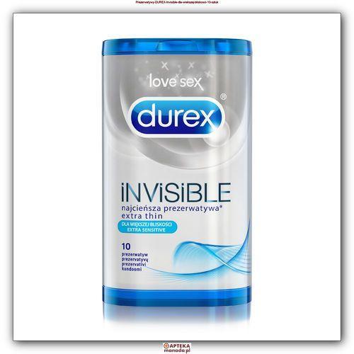 Durex Prezerwatywy Invisible Extra Sensitive 10szt, 2301810
