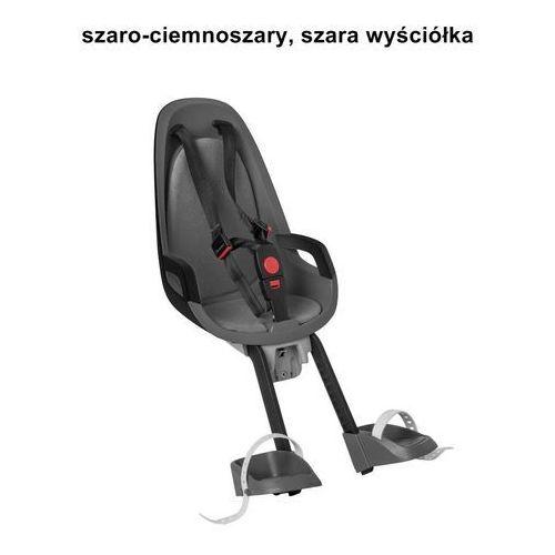 Fotelik rowerowy na przód caress observer szaro-ciemnoszary szara wyściółka marki Hamax
