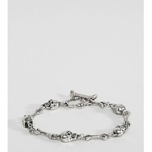 inspired chain bracelet with skulls exclusive at asos - silver marki Reclaimed vintage