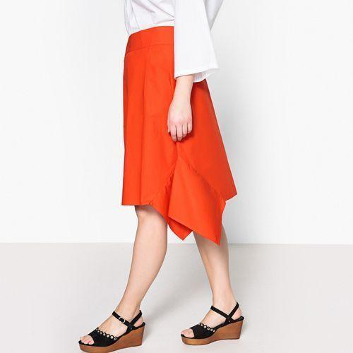 Półdługa spódnica wiązana, rozkloszowana, z klinów, Castaluna