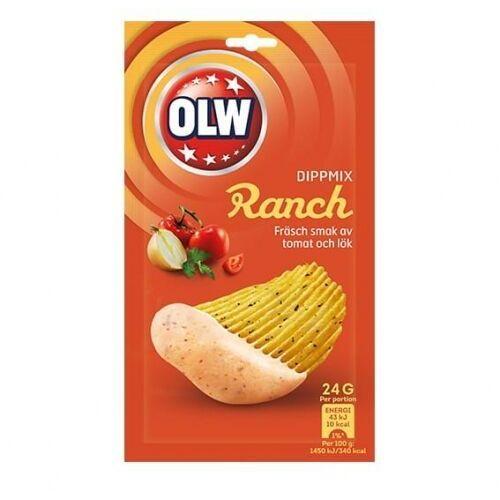 - dippmix ranch - dip o smaku pomidorów i cebuli - 24g - ze szwecji marki Olw