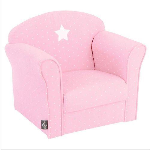 Klasyczny fotel dla dzieci - bawełna, kolor różowy marki Atmosphera créateur d'intérieur