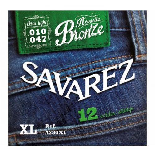 Savarez (668588) struny do gitary akustycznej acoustic bronze - a230xl - 12-str. ex-light.010