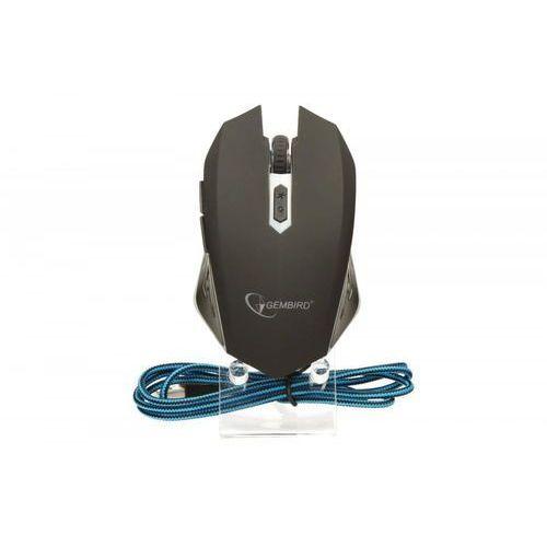 GEMBIRD myš MUSG-001-B optická, modro-černá, 2400 dpi, USB (8716309081894)