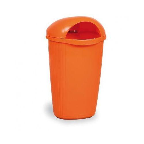 Zewnętrzny kosz na odpady na słupek DINOVA, pomarańczowy