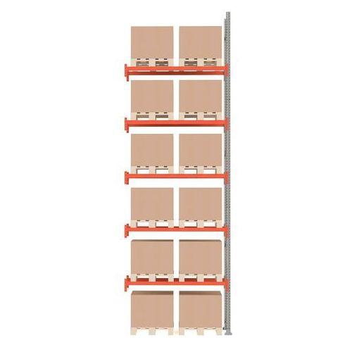 Regał paletowy ultimate, moduł dodatkowy, 6000x1850x1100 mm, 12 palet marki Aj produkty
