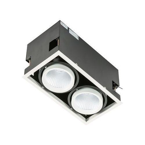 Lampa sufitowa Italux Vertico Double GL7108-2/2X18W 3000K WH+BL spot 2x18W LED biały mat/czarny, GL7108-2/2X18W 3000K WH+BL