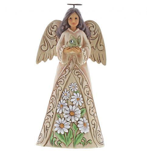 Anioł Kwiecień patron urodzonych w kwietniu April Angel 6001565 Jim Shore, pamiątka narodzin, chrztu figurka dewocjonalia