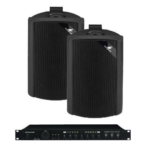 Zestaw nagłaśniający (2 głośniki 45W + wzmacniacz)