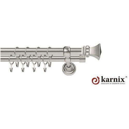 Karnisz Metalowy Rzymski podwójny 19/19mm Orto chrom mat - produkt z kategorii- Karnisze