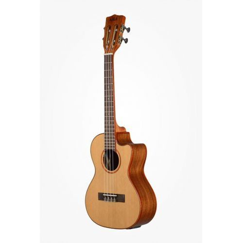 Kala ka-atp-ctg-ce solid cedar acacia ukulele tenorowe + cut-away, eq and case (uc-t)