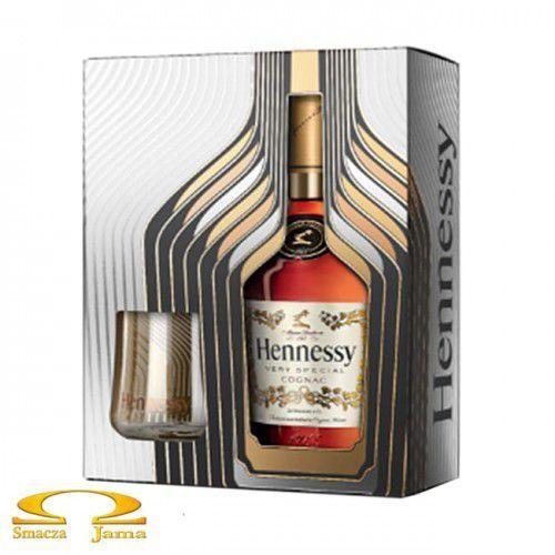 Jas hennessy & co. Koniak hennessy vs 0,7l eoy giftbox 2018 + 2 szklanki (3245997599619)