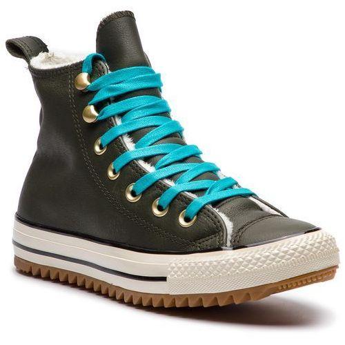 Sneakersy - ctas hiker boot hi 162478c utility green/rapid teal marki Converse