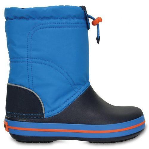 Crocs Śniegowce Crocband Lodge Point Boot Kids Ocean/Navy 32-33 (J1)